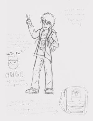 Early Zack sketch