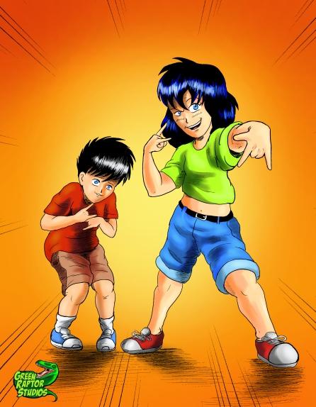 Kalwa and Zack as Kids