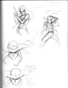Cowgirl Kalwa Sketches